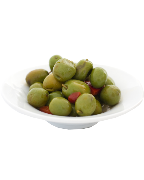 Žaliosios alyvuogės CHUPADEDOS su kauliukais, 1 kg