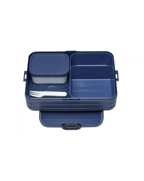 Didelė maisto dėžutė su skyreliais MEPAL Bento mėlyna, 1 vnt.