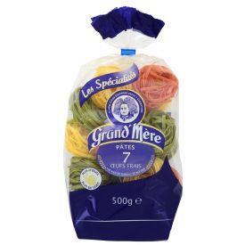 Makaronai su kiaušiniais GRAND'MERE CLASSIQUES trispalviai lizdeliai, 500 g.