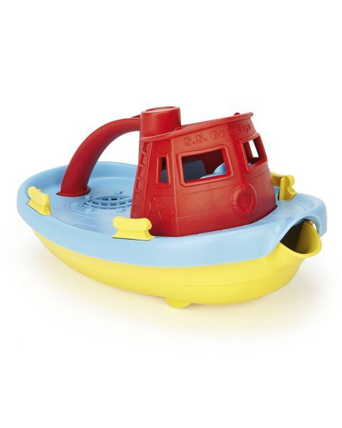 Laivas GREEN TOYS ™ (mėlyna, raudona), 1 vnt.