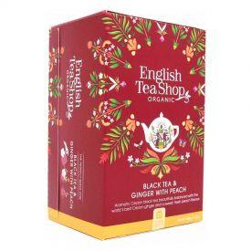 Ekologiška arbata ENGLISH TEA SHOP Ginger peach, 20 maišelių