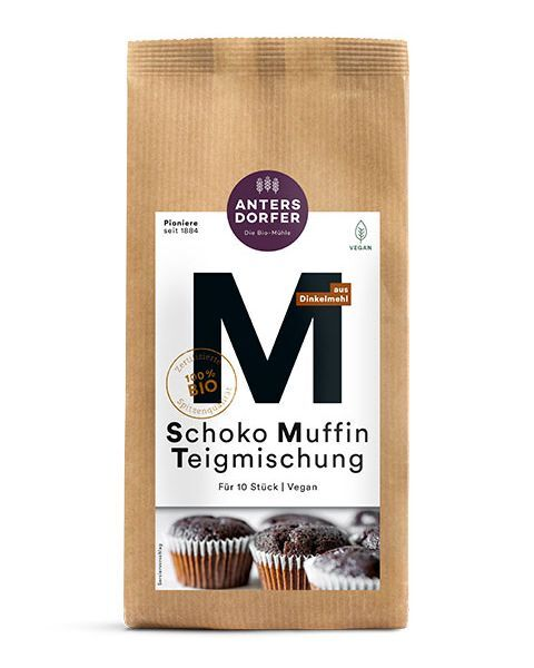 Ekologiškas šokoladinių keksiukų kepimo mišinys ANTERSDORFER, 300 g