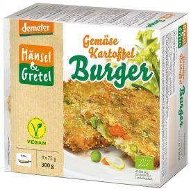 Šaldyti veganiški daržovių paplotėliai HANSEL&GRETEL, biodinaminiai, 4 x75g