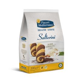 Sausainiai su migdolais ir kakava Salterini PIACERI MEDITERRANEI, be gliuteno, 200 g