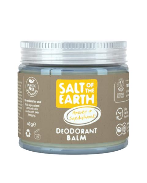Natūralus tepamas dezodorantas SALT OF THE EARTH su gintaru ir santalu, 60g