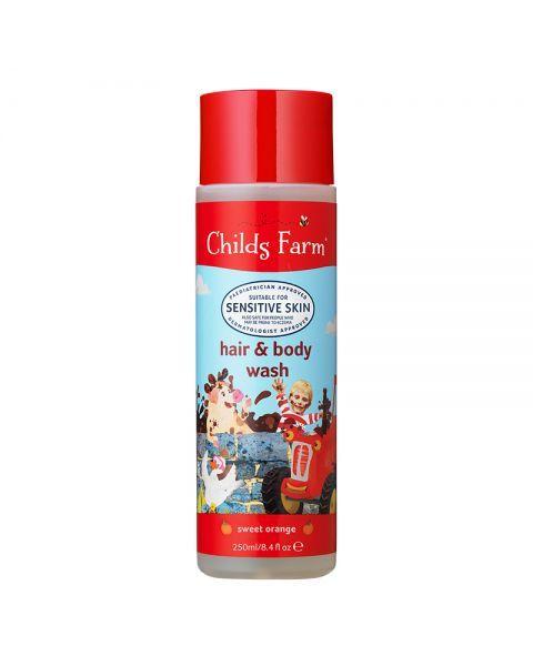 Šampūnas ir kūno prausiklis vaikams CHILDS FARM su apelsinais, 250 ml