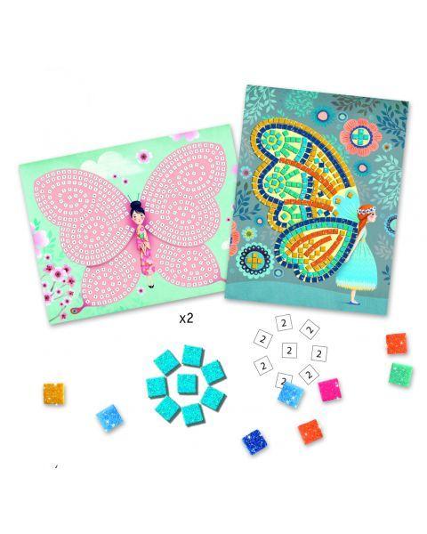 Žaidimas mozaika DJECO Butterflies (DJ08898), 1 vnt. 2