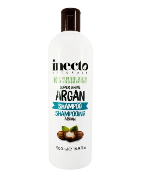 Maitinamasis, žvilgesio suteikiantis šampūnas INECTO Naturals su arganų aliejumi, 500 ml