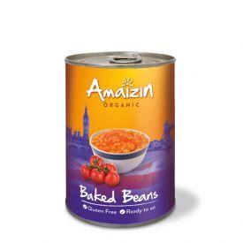 Ekologiškas keptos pupelės pomidorų padaže AMAIZIN, 400 g