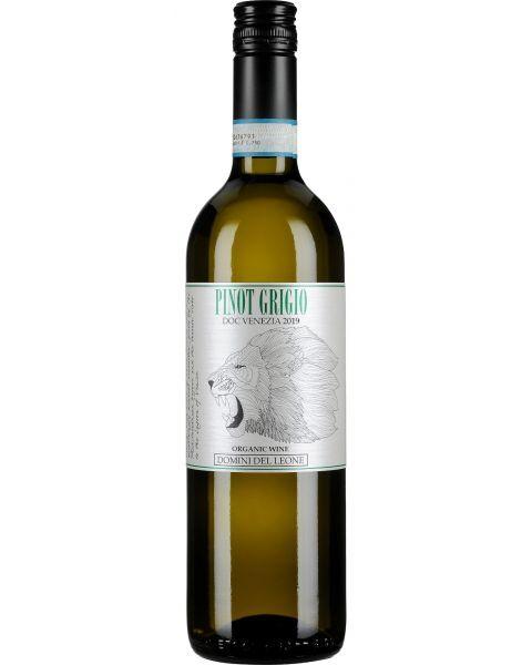 Ekologiškas baltas vynas DOMINI DEL LEONE Pinot Grigio DOC 2020 12,5%, 750 ml