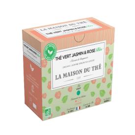 Ekologiška arbata LA MAISON DU The vert jasmin bergamote rose, 15 maišelių