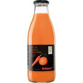 Ekologiškos morkų ir apelsinų sultys DELIZUM, 750ml