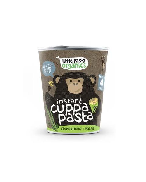 Ekologiški užpilami makaronai puodelyje vaikams LITTLE PASTA ORGANICS su šparagais ir pesto, 45 g