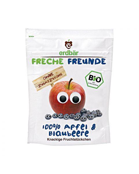 Ekologiški liofilizuoti obuolių ir mėlynių traškučiai FRECHE FREUNDE, 16 g