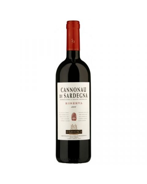 Raudonas sausas vynas SELLA & MOSCA Cannonau di Sardegna Riserva DOC 13,5%, 750 ml