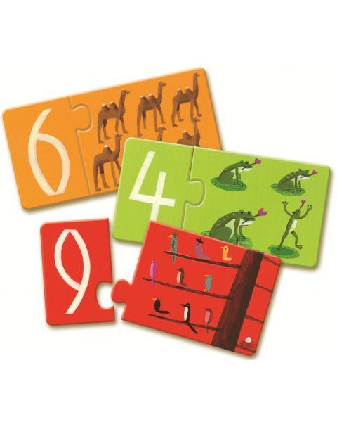 Dėlionė DJECO Mokomės Skaičiuoti vaikams nuo 3 metų (DJ08151) 2