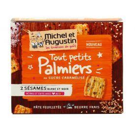 Prancūziški sausainiai Palmiers MICHEL&AUGUSTIN su karamelizuotu cukrumi, 90 g