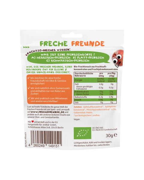 Vaisių guminukai FRECHE FREUNDE su persikais, 30 g 2