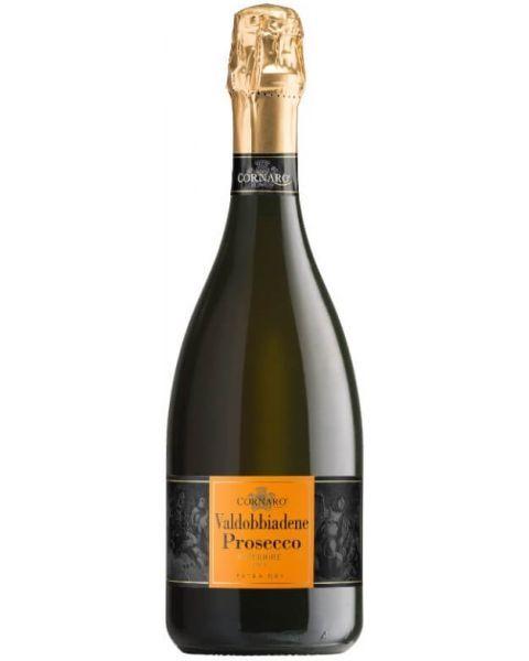 Putojantis vynas Cornaro Valdobbiadene Prosecco Superiore Extra Dry DOCG 11,5%, 750ml