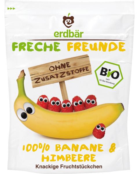 Ekologiški bananų ir aviečių traškučiai FRECHE FREUNDE, 16 g