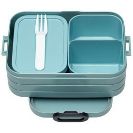 Vidutinio dydžio maisto dėžutė su skyreliais MEPAL Bento žalsva, 1 vnt.