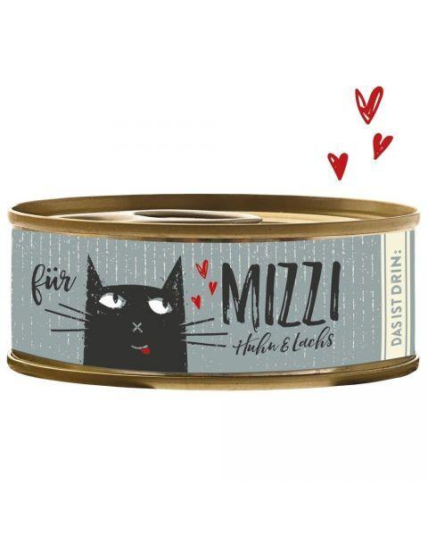 Konservai katėms BUBECK Mizzi su vištiena ir lašiša, 100 g