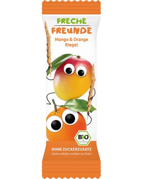 Ekologiškas batonėlis FRECHE FREUNDE su mangais ir apelsinais, 4x23 g