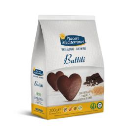 Sausainiai su šokoladu Battiti PIACERI MEDITERRANEI, be gliuteno, 200 g