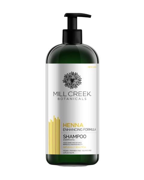 Plaukų šampūnas su chna MILL CREEK BOTANICALS, 414 ml