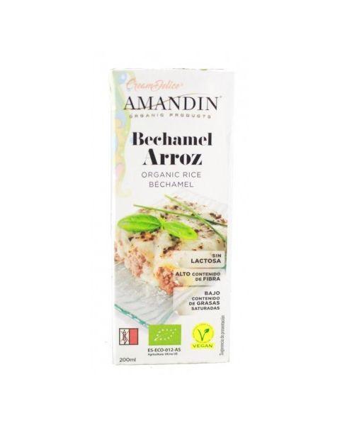 Ekologiškas ryžių Bešamelio padažas AMANDIN, 200ml