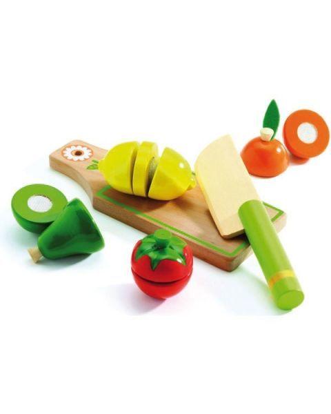 Medinis pjaustomų vaisių ir daržovių rinkinys DJECO vaikams nuo 3 metų (DJ06526) 2