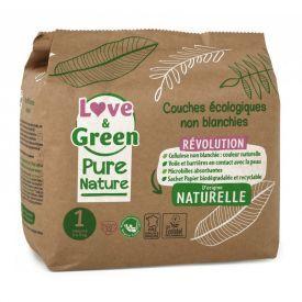 Ekologiškos Love&Green sauskelnės, 1 dydis, 2 - 5 kg, 32 vnt