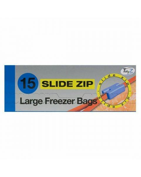 Dideli šaldymo maišeliai TidyZ su lengvu uždarymu, 15 vnt.