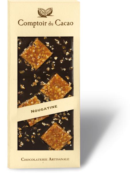 Juodasis šokoladas COMPTOIR du CACAO, su griliažu, 90 g
