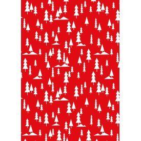 Dovanų popierius ZOEWIE Red and White (200x70 cm), 1 vnt.