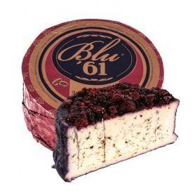 """Mėlynojo pelėsio sūris """"BLUE 61"""" brandintas vyne su spanguolėmis, 1 kg"""