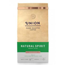 "Ekologiškos kavos pupelės UNION ""Natural Spirit"", 200g"