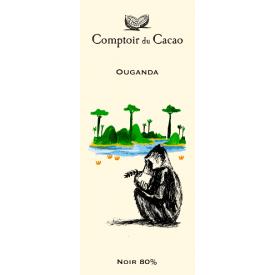 Juodasis šokoladas 80% COMPTOIR du CACAO Ouganda, 80 g