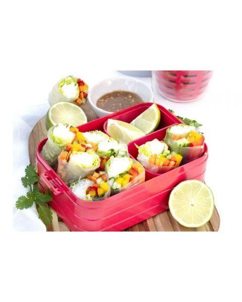 Vidutinio dydžio maisto dėžutė su skyreliais MEPAL Bento žalsva, 1 vnt. 2