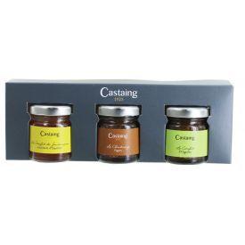 Gurmaniškas džemų rinkinys CASTAING dėžutėje, 3x30 g