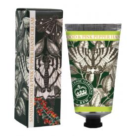 """Rankų kremas ENGLISH SOAP """"Kew Gardens"""" su santalu ir rausvaisiais pipirais, 75 ml"""