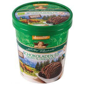 Šokoladiniai grietininiai GILDO RACHELLI valgomieji ledai, biodinaminiai, 500ml