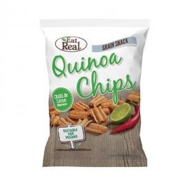 Bolivinės balandos (kynvos) traškučiai SU ČILI PIPIRAIS IR LAIMU, Eat Real, 30 g