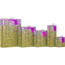 Mažas maišelis dovanoms GIFTMAKER konfeti, 13 x 16 cm, 1 vnt.