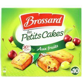 Maži pyragėliai BROSSARD su cukruotais vaisiais ir razinomis, 10 vnt pakuotėje, 300 g