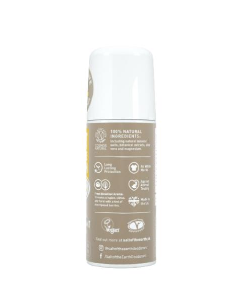 Natūralus rutulinis dezodorantas SALT OF THE EARTH su gintaru ir santalu, 75 ml 4