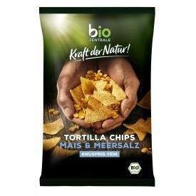 Ekologiški kukurūzų traškučiai BIOZENTRALE su jūros druska, 125g