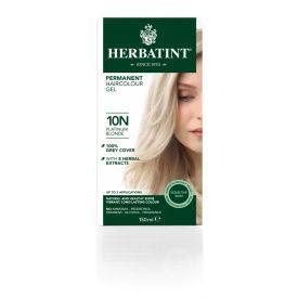 Plaukų dažai be amoniako HERBATINT su ekologiškais ekstraktais, 10N platinos blondinė, 150 ml