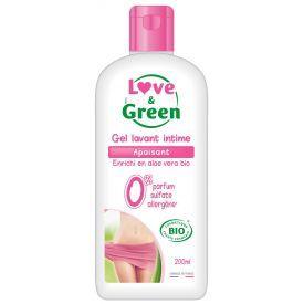 Ekologiškas raminantis gelis intymiai higienai LOVE&GREEN, 200 ml