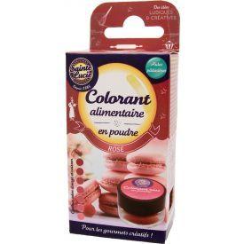 Maistinių dažų milteliai SAINTE LUCIE, rožinės spalvos, 4 g